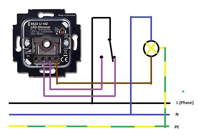 wechselschaltung mit einem dimmer wie wird ein dimmer angeschlossen led dimmer anschliessen