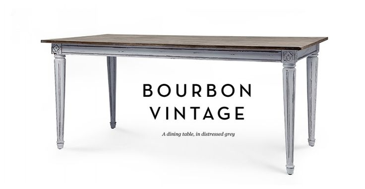 Bourbon Vintage Dining Table in distressed grey | made.com