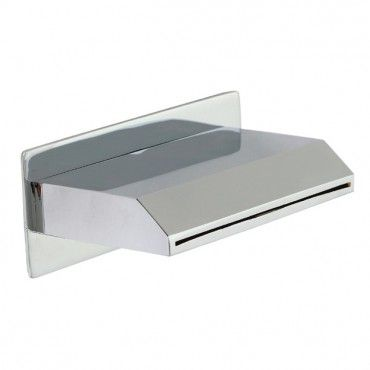 Quadra Waterfall Wall Spout 80mm