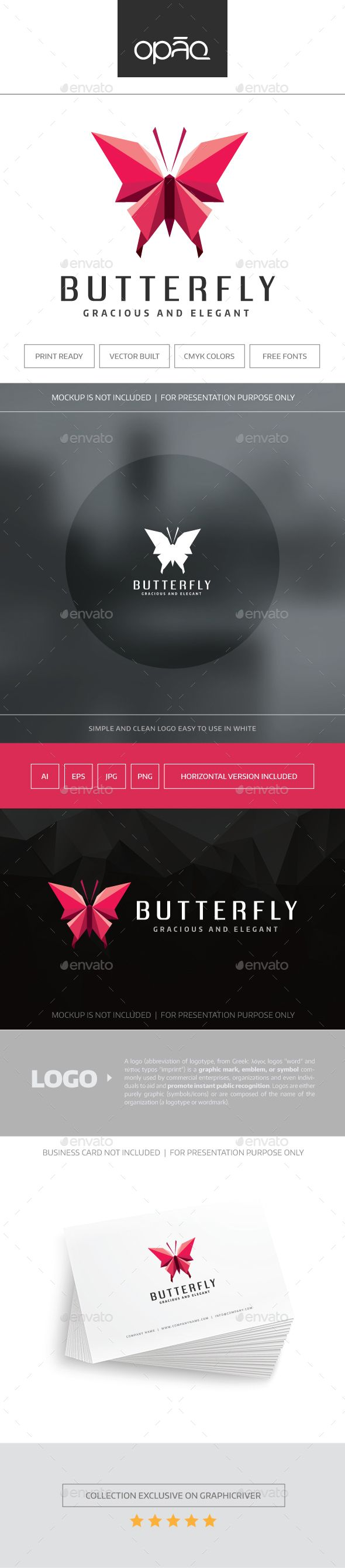 Butterfly Logo  EPS Template • Download ➝ https://graphicriver.net/item/butterfly-logo/17101121?ref=pxcr