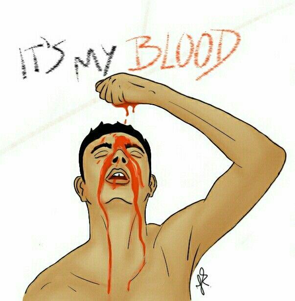 I bleed it out, digginng deeper just to throw it away  #draw #sketchbook #sketchbookx #drawing #desenho #desenhando #ilustracao #illustration #blood #sangue #man #art #vermelho