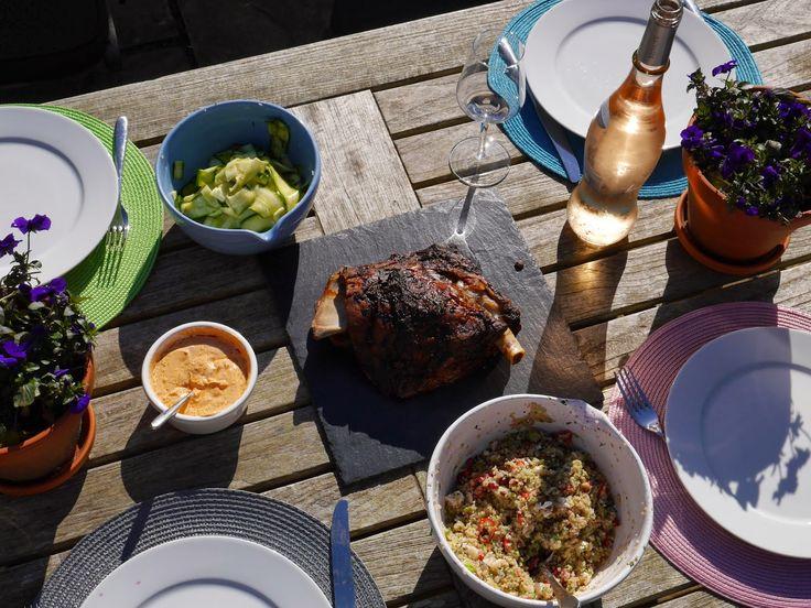 The Mocking Bird: Moroccan Lamb with Feta & Pomegranate Salad and Harissa Yoghurt