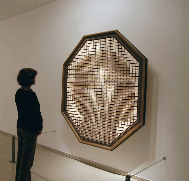 """""""Wooden Mirror"""" (1999) by Daniel Rozin by bitforms gallery. """"Wooden Mirror"""", 1999. A bit old but still really cool"""