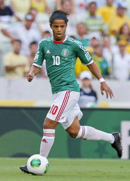 Mexico's Giovani Dos Santos controls a ball during the soccer Confederations Cup group A match between Brazil and Mexico at Castelao stadium in Fortaleza, Brazil, Wednesday, June 19, 2013. The midfielder will play with Spain's Villarreal next season. (Fernando Llano/AP)
