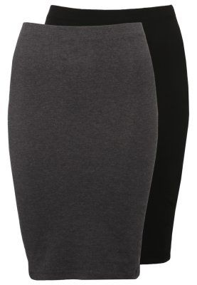 2 PACK - Blyantnederdel / pencil skirts - black/dark grey melange