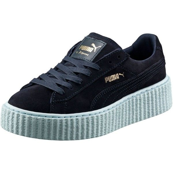 Puma PUMA BY RIHANNA WOMEN'S CREEPER ($120) ❤ liked on Polyvore featuring shoes, puma footwear, punk platform shoes, suede platform shoes, punk rock shoes and cat shoes