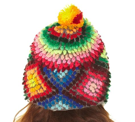Colorful woven hat