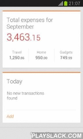 Depoza - Expense Tracker  Android App - playslack.com ,  Depoza - an application for tracking personal expenses.Depoza helps you to understand, where all your money goes to.MAIN FEATURES:- Parsing text message based payment notifications;- Add new expense records in a convenient way;- Backing up and restoring data (Dropbox);- Unlimited number of expense categories;- Expense reports for a selected period.PARSING TEXT MESSAGE BASED PAYMENT NOTIFICATIONS:- Text messages are automatically…