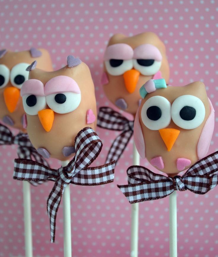 Ahhhhh!!!! Owl cakepops!!!!
