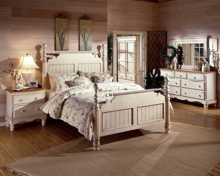 Buy Hillsdale Furniture Hillsdale Furniture - Wilshire Post Bed w Beaded  Insets in Antique White Finish at ShopLadder - Great Deals on Beds with a  superb ... - 31 Best Vintage Rooms Images On Pinterest Bedrooms, Bedroom