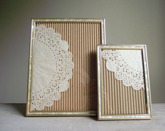 ornate metal photo frames gold tone with faux mother of pearl by gazaboo on - Metal Photo Frames