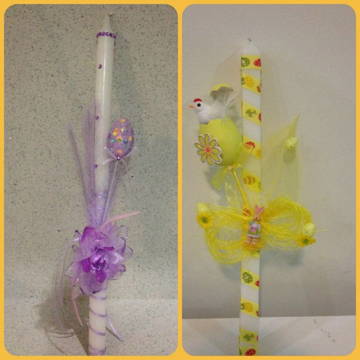 Palm Sunday candles