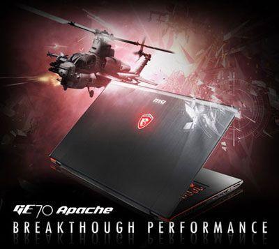 MSI GE70 Apache Pro-012 17.3-Inch Laptop  Price:$1,299.00 & FREE Shipping  Intel Core i7-4700HQ 3.2 GHz 12 GB DDR3L SDRAM 1024 GB 7200 rpm Hard Drive 17.3-Inch Screen; NVIDIA Geforce GTX860M with 2GB GDDR5 VRAM Windows 8.1