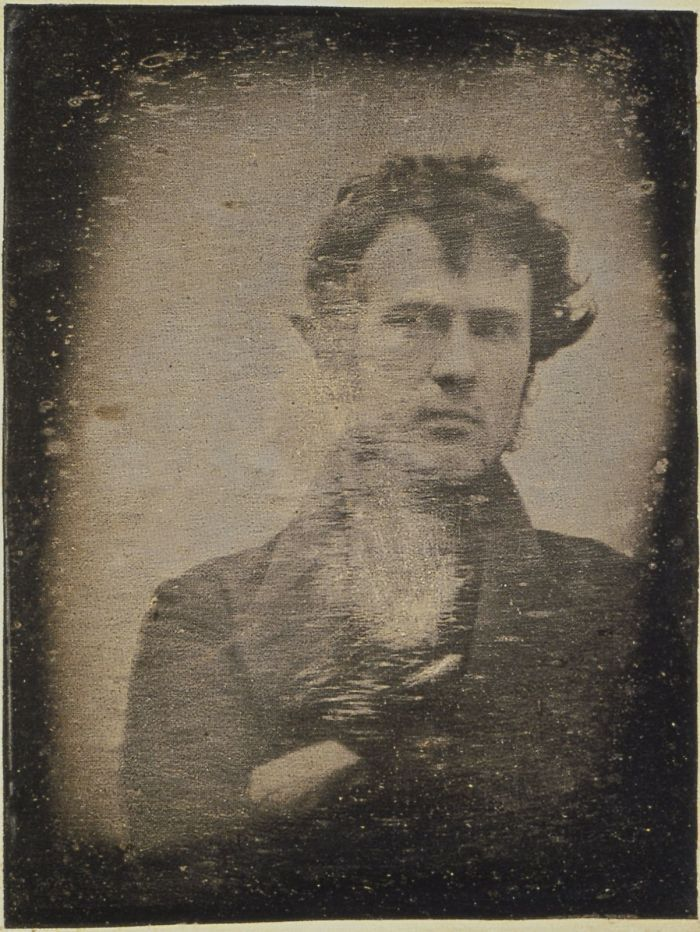Robert Cornelius In The First Daguerreotype Taken In North America. It Is Believed To Be The First Photographic Self-Portrait, 1839