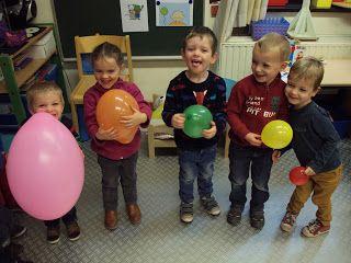 1ste kleuterklas B: Thema: Ballen en ballonnen
