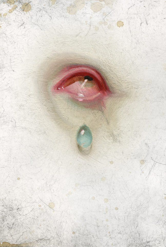 Michael Hussar (American, b. 1964, Long Beach, CA, USA) - From: Classic - Lovers Eyes series Paintings: Oil on Wood