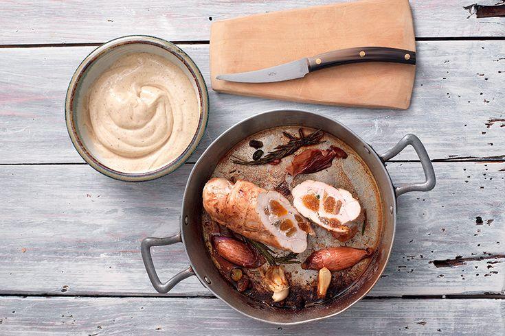 Galantina di pollo con maionese alle olive