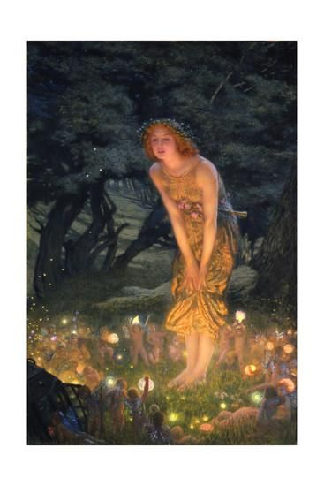 Midsummer Eve Giclee Print by Edward Robert Hughes at Art.com