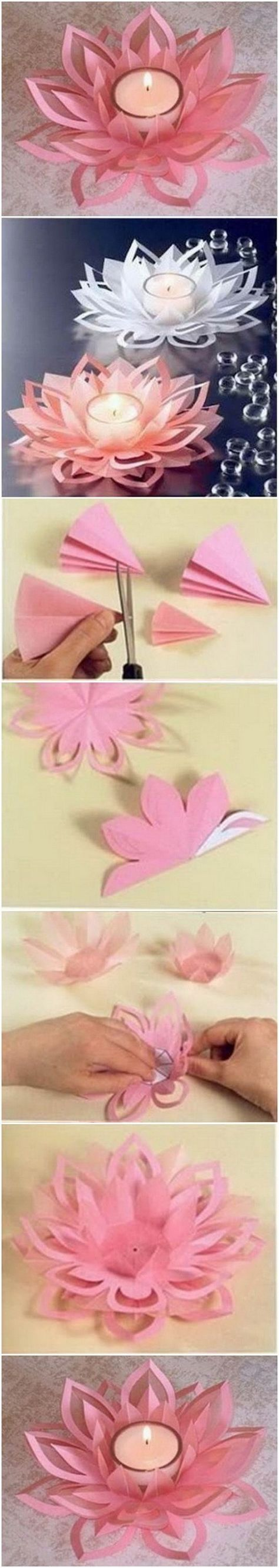 Best 25 asian crafts ideas on pinterest chinese for Diy paper lotus candlestick