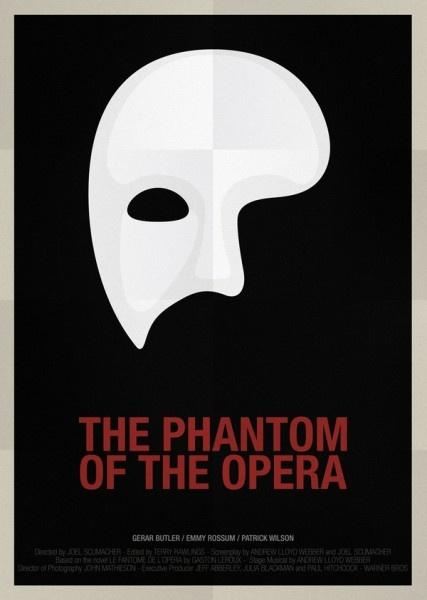 phantom minimalist poster, phantom of the opera, minimalist poster, jessye