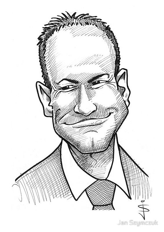 Caricature - Alan Shearer by Jan Szymczuk