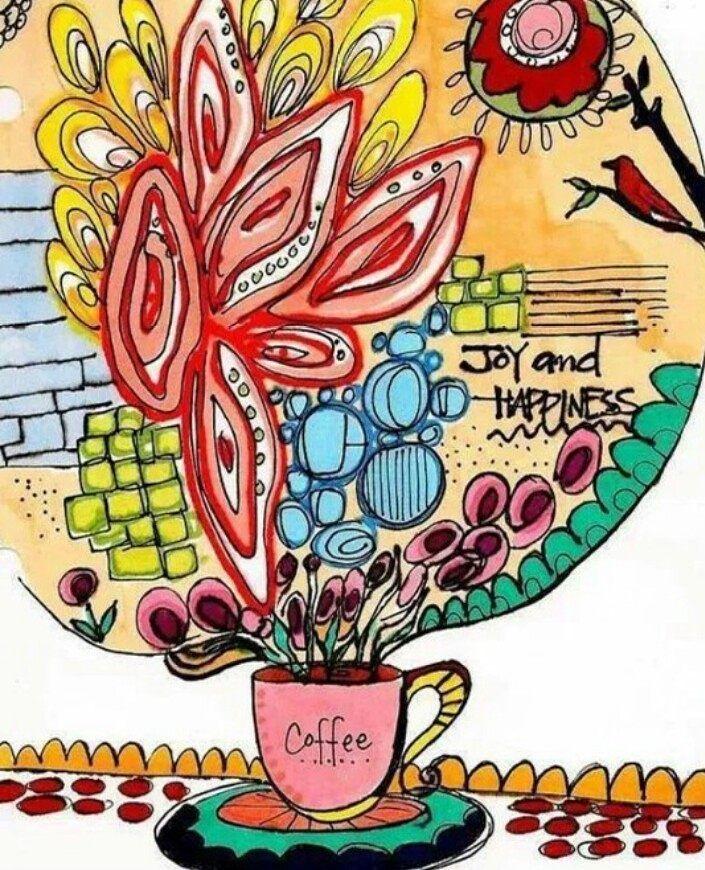 Bom dia! Que não nos falte fé café e amor! Que o dia seja iluminado e colorido.  @OlhardeMahel #bomdia #despertando #café #luz #cafédamanhã #ilustração #diailuminado #cafeteria #caféecompanhia #ilustradores #adorocafé #coffee #pintervalo #goodmorning #olhardemahel #coffeeart #illustration #light #coffeeinthemorning #coffeeshop #illustrator #coffeelover #sunnyday #haveaniceday