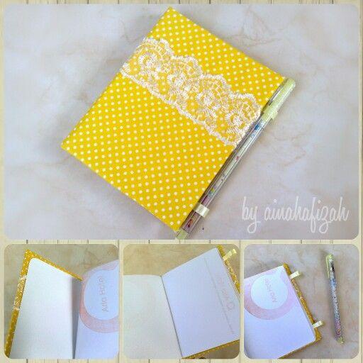 Handmade booknote by ainahafizah