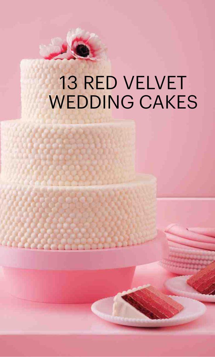 16 best Red Velvet Wedding Cakes images on Pinterest   Red velvet ...