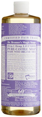 Dr. Bronner's Magic Soaps Pure-Castile Soap, 18-in-1 Hemp Lavender, 32-Ounce