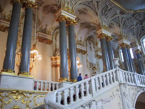 Jordan Staircase in the State Hermitage Museum in St. Petersburg, Russia