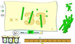 Base Ten Blocks Place Value Game