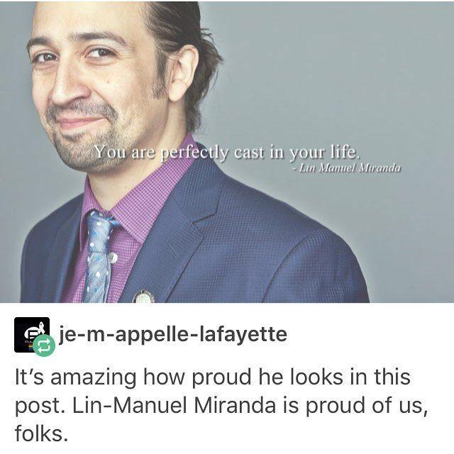 HE'S PROUD OF US