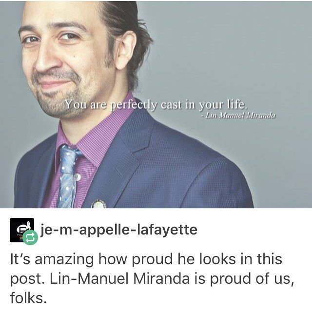 HE'S PROUD OF US