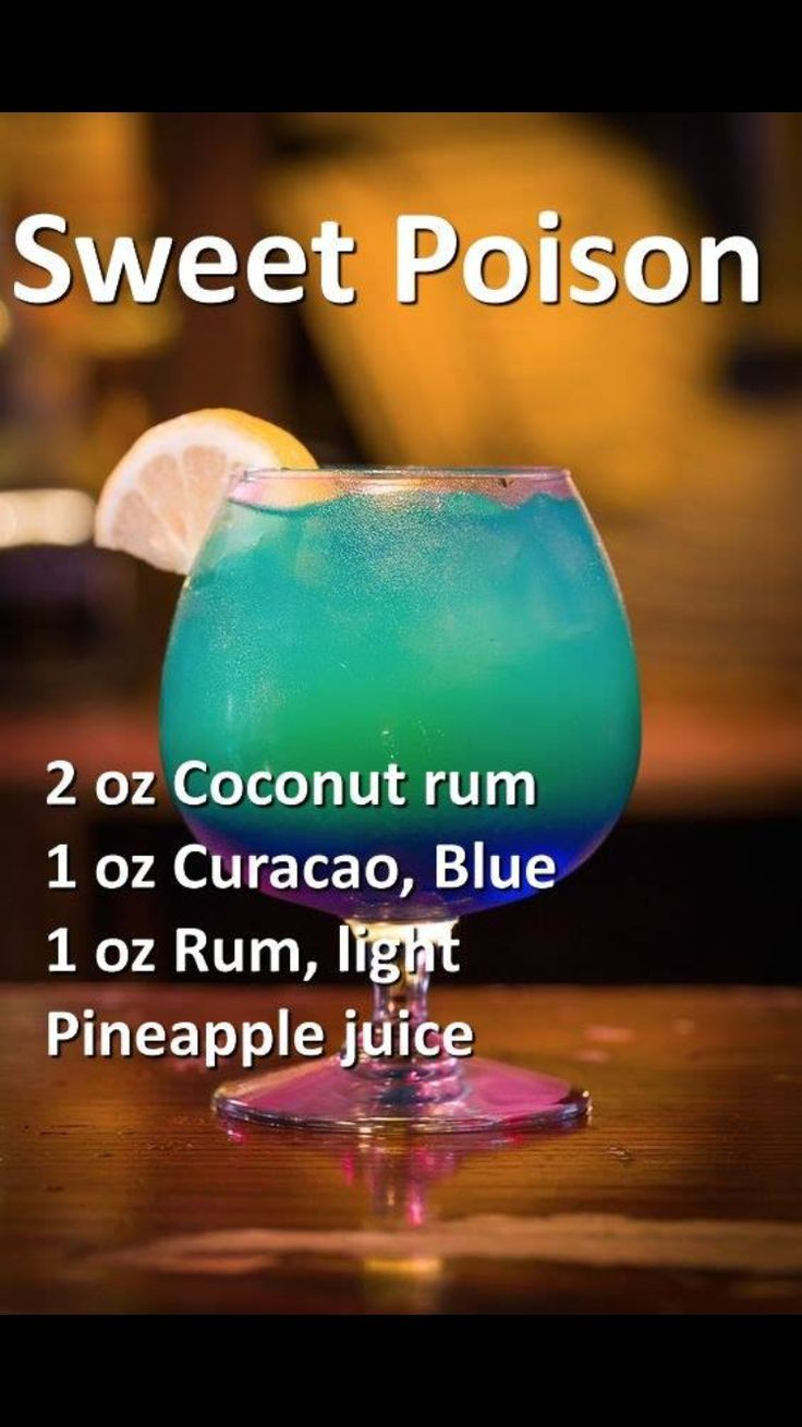 Smoothie Blue Ocean With Recipe (mixed Drinks With Rum