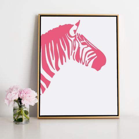 Pink Zebra Canvas