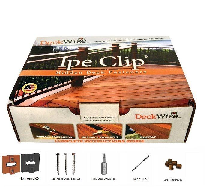 Deckwise Ipe Clip Extremekd For 1 4 Spacing Hidden Deck Fasteners Hardwood Decking Deck Spacers