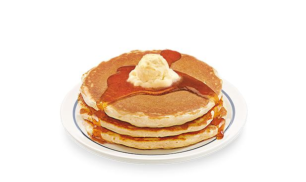 Seniority has it's privileges - like the 55  Buttermilk Pancakes. Priced for those 55 , enjoy a short stack of #IHOP's fluffy pancakes with less than 600 calories.