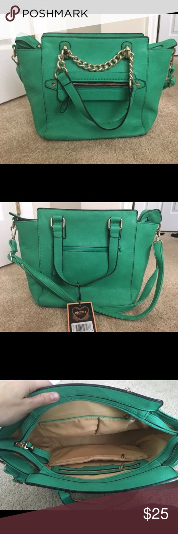 Mint Purse Never been used, still has tags on it. Just not my color. Perfect condition. No rips, tears, or stains. Non smoker. Diophy Bags