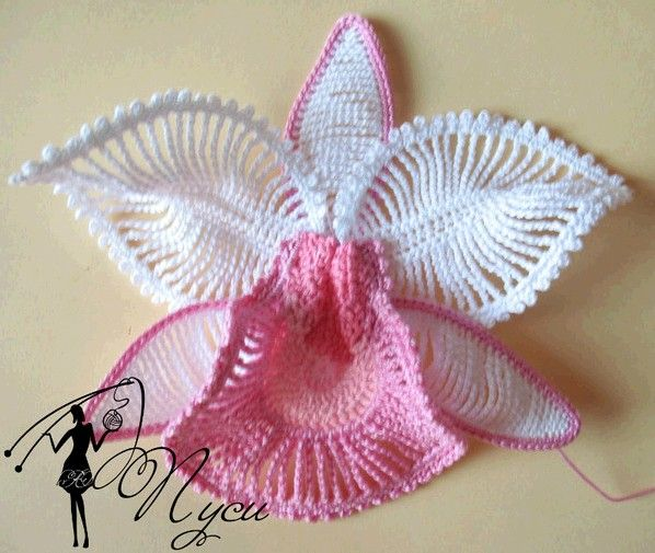 Wonderful #Crochet #Orchid #Tutorial - exceptionally beautiful flower with large clear step-by-step photos.