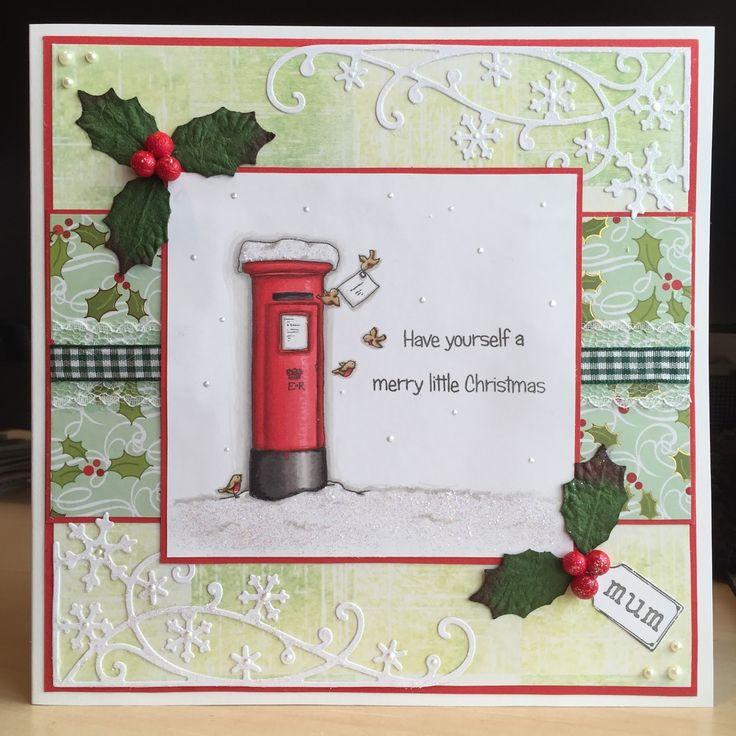 Little Claire's Designs: Monthly Stamp Challenge # 64 - A Special Christmas Card
