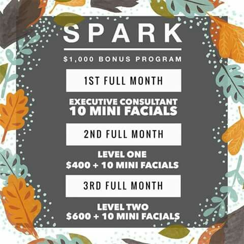 New spark program for new consultants! Fall sign on bonus til Halloween! Cash back on kits!! Jwells21.myrandf.biz Jenwells21@gmail.com 661 755 6852