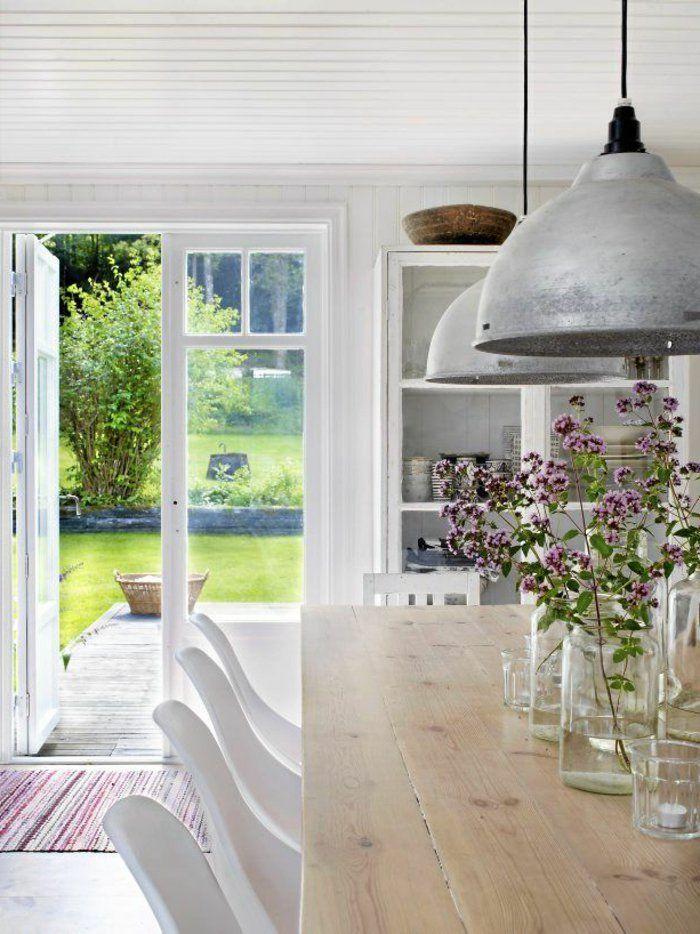 salle a manger complete pas cher de style scandinave avec table carree