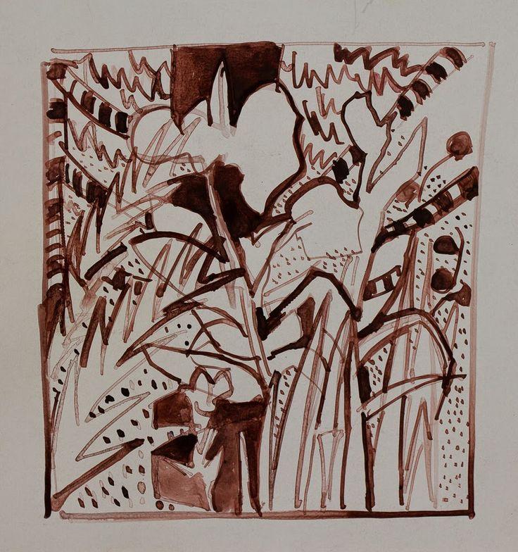 Marina Goldaracena Pinturas: Dibujo en tinta