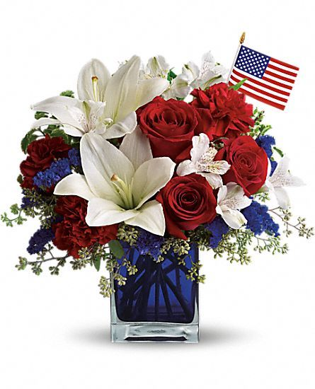 4th of July Wedding Bouquet | ... , America the Beautiful by Teleflora Flower Bouquet - Teleflora.com
