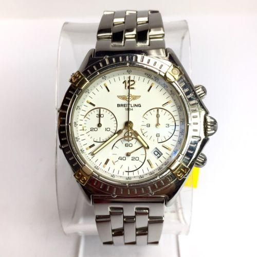 36.5mm BREITLING 1884 Chronograph 18K Yellow Gold & Steel Men's/Unisex Watch