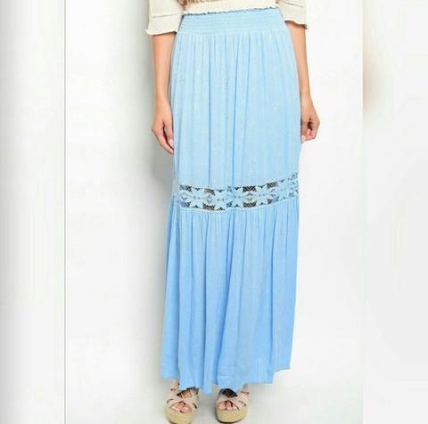 Embroidered Maxi skirt, Skirts for Women, Long Skirt, Ombre Skirt,Shop- On Sale for $21 at www.allthingslovelyshop.com