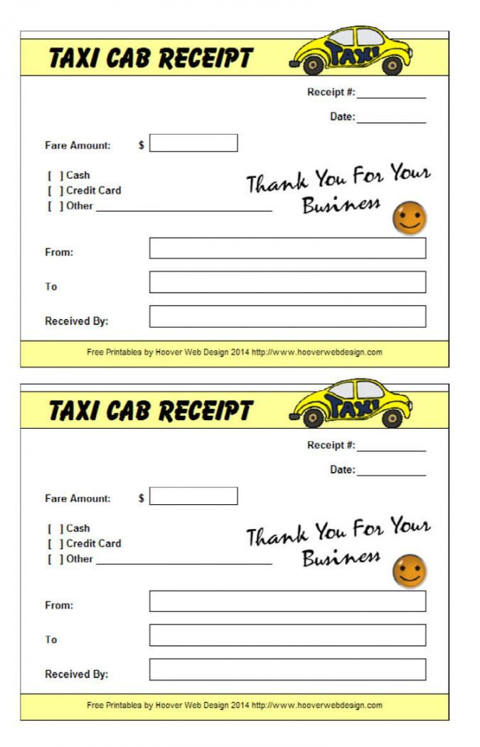 Explore Our Sample Of Taxi Cab Receipt Template Receipt Template Business Template Templates
