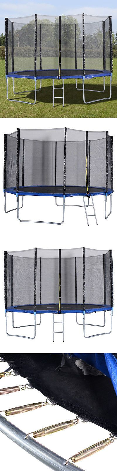 Trampolines 57275: 12 Ft Trampoline Combo Bounce Jump Safety Enclosure Net W/Spring Pad Ladder New BUY IT NOW ONLY: $209.99