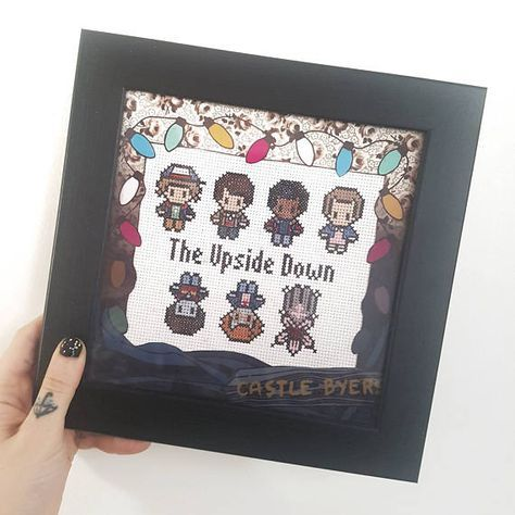 Stranger Things The Upside Down Cross Stitch w/ Custom