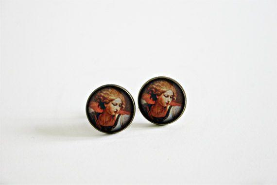 Boucles d'oreilles minimalistes Archange St Michel /